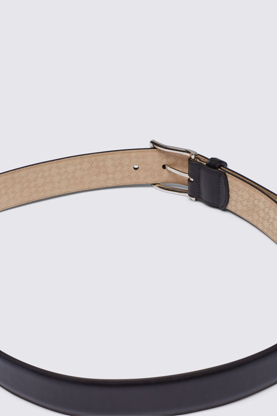 Plain formal belt
