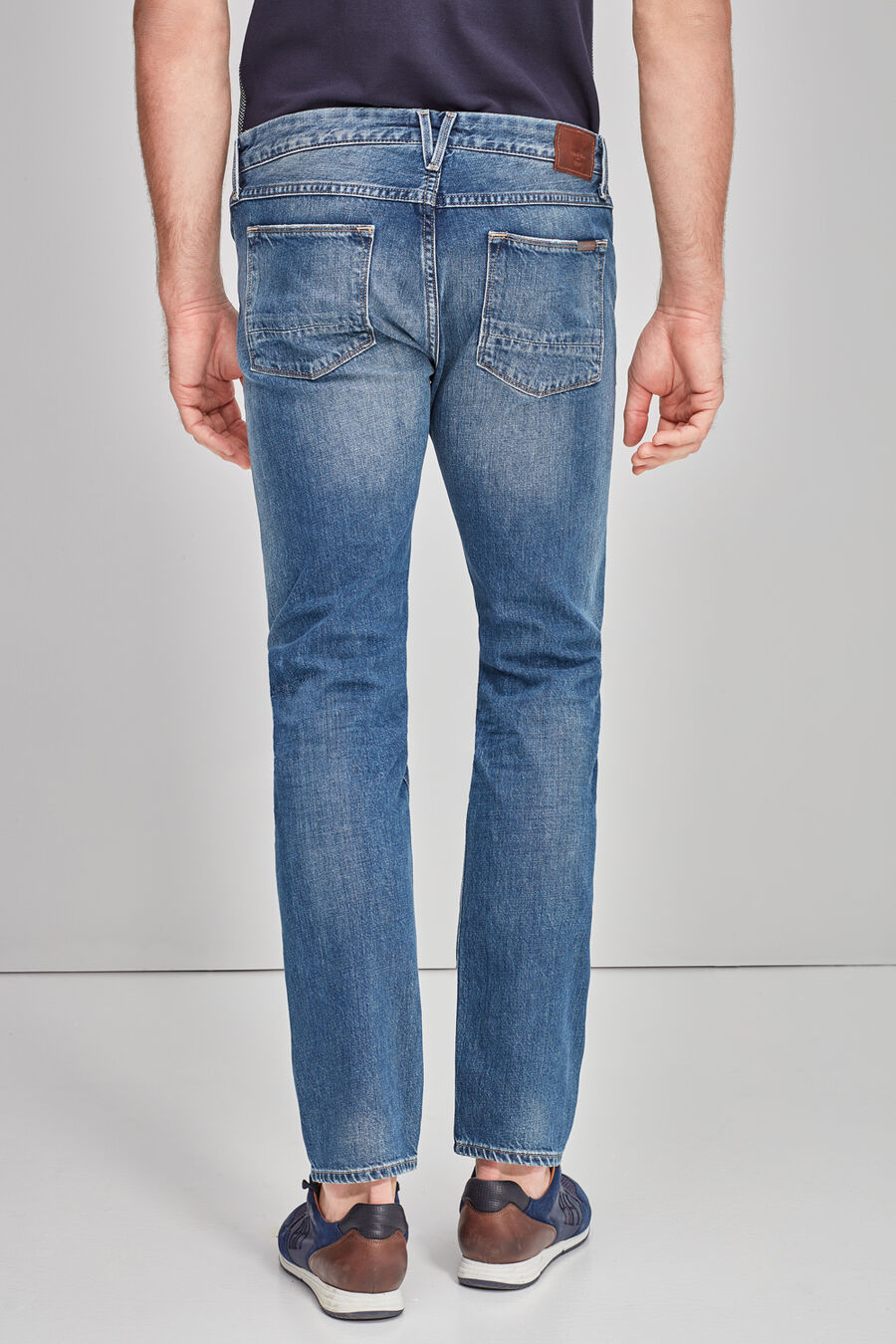 Straight fit denim trousers