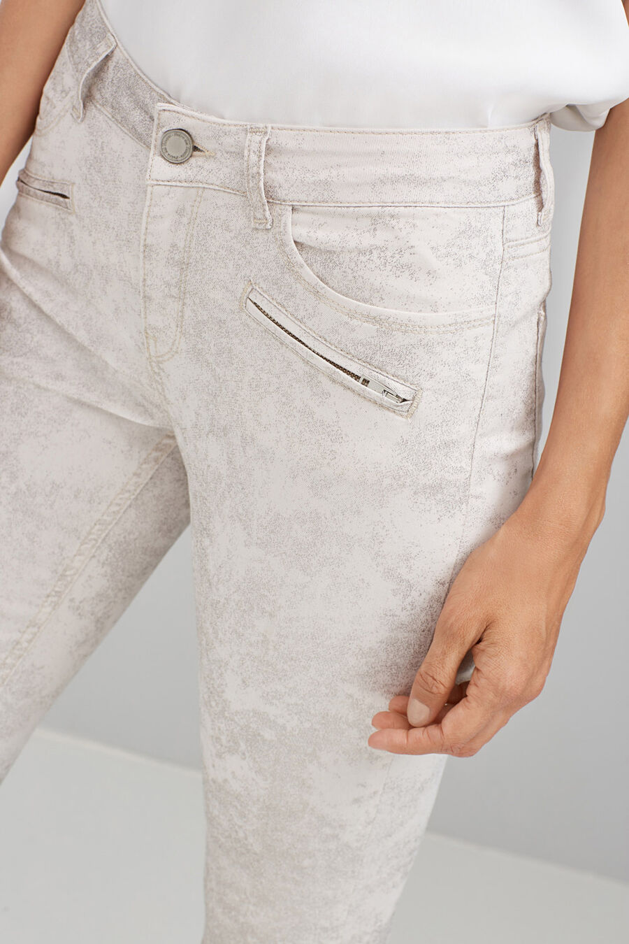 Skinny denim trousers