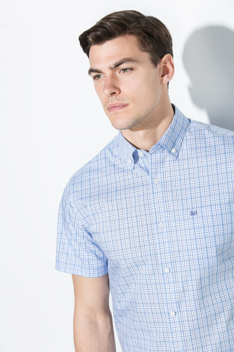 Non-iron checked shirt