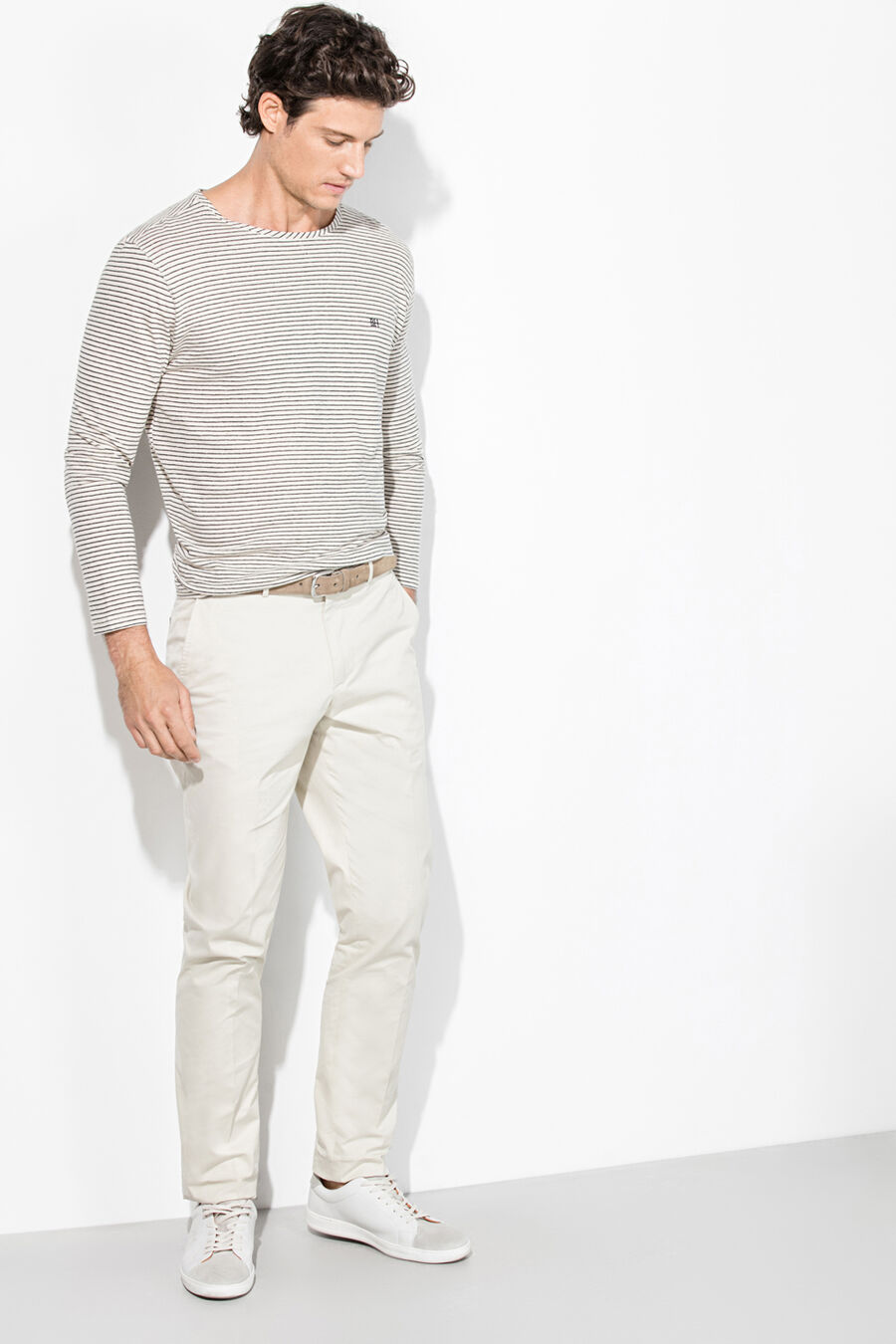Cotton linen t-shirt