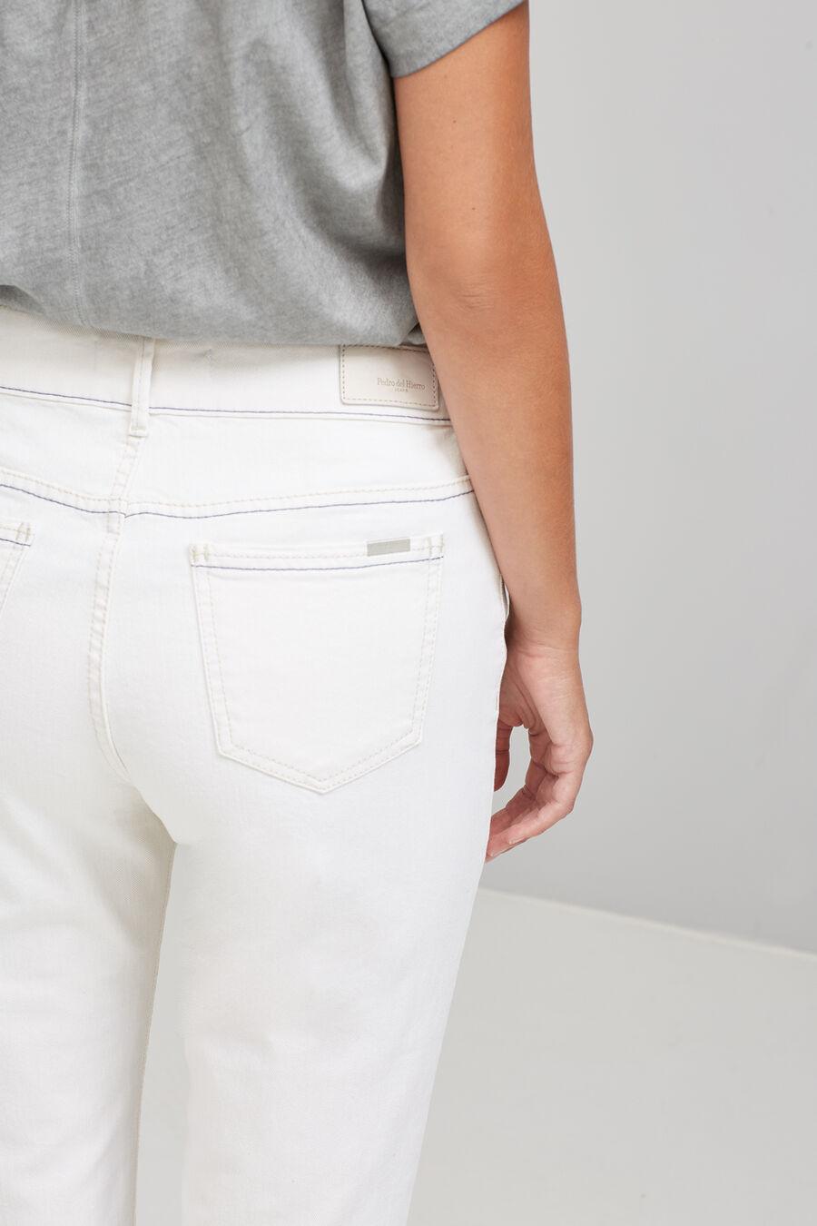 Cigarette denim trousers