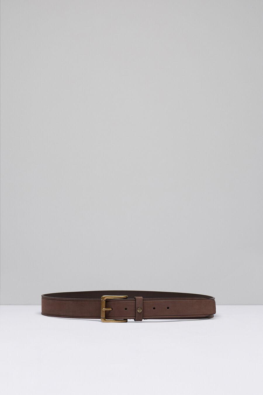 Filleted plain casual belt