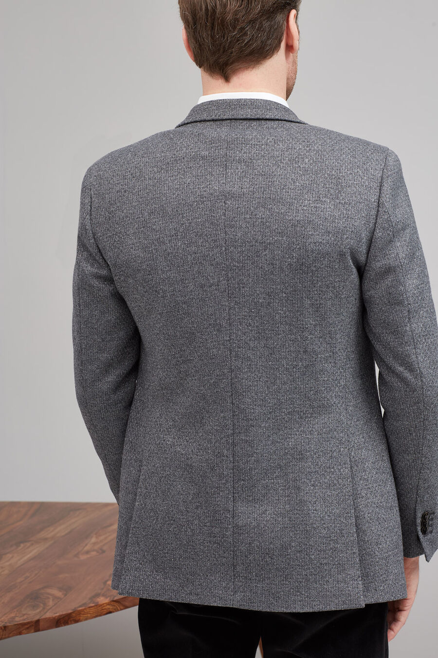 Grey structure wool jacket
