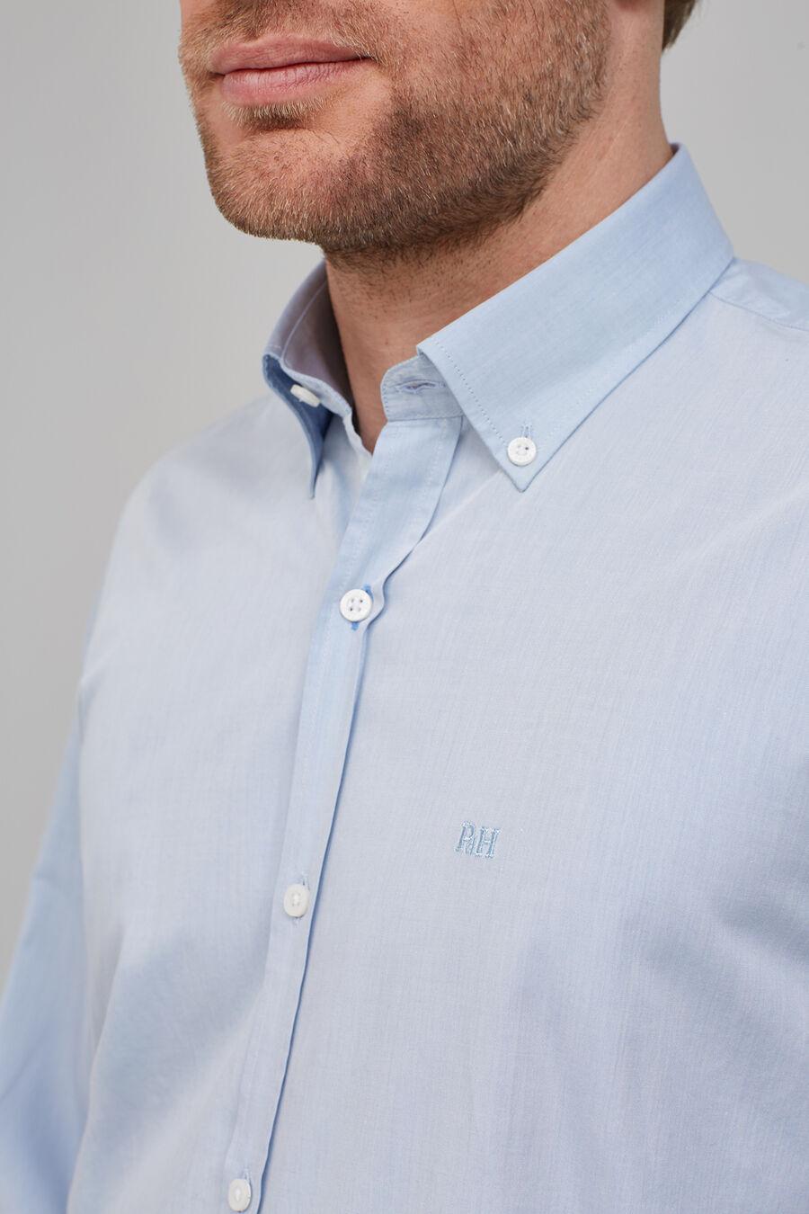 Tailored fit plain shirt