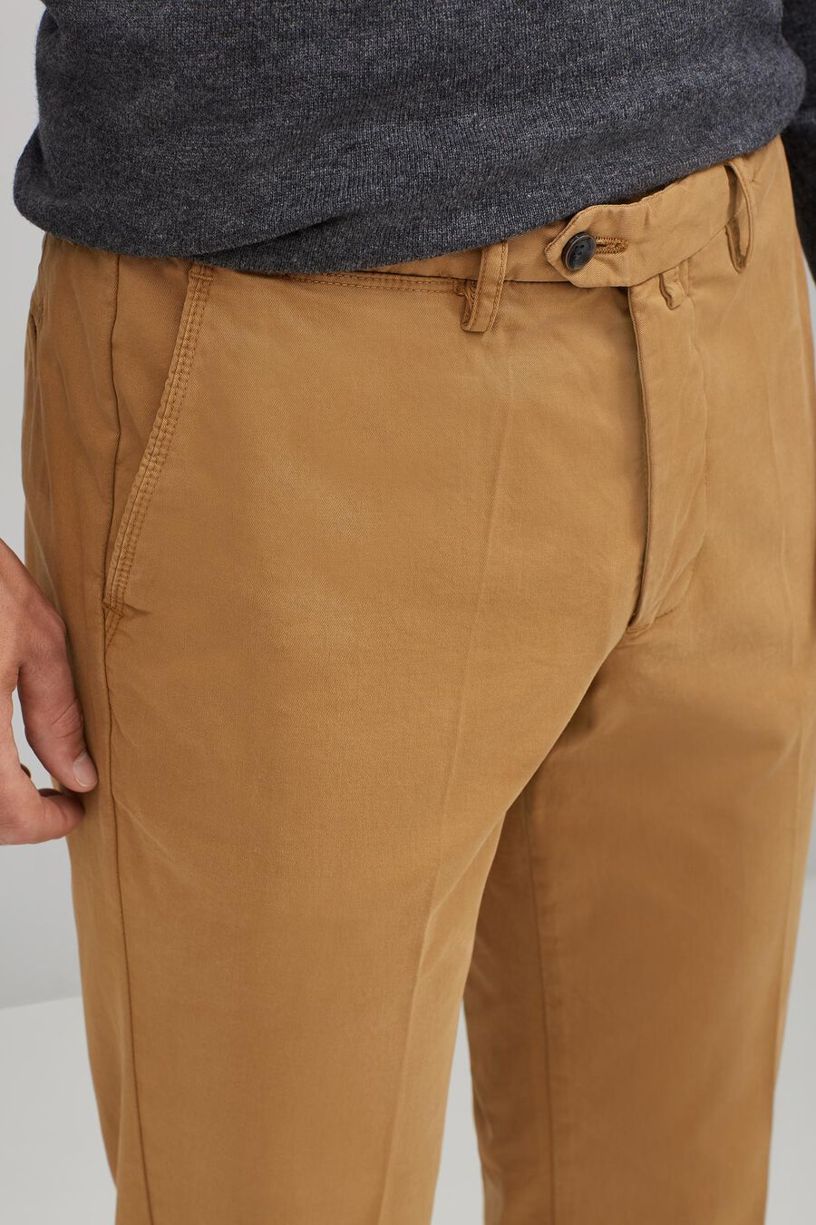Pima cotton chino trousers