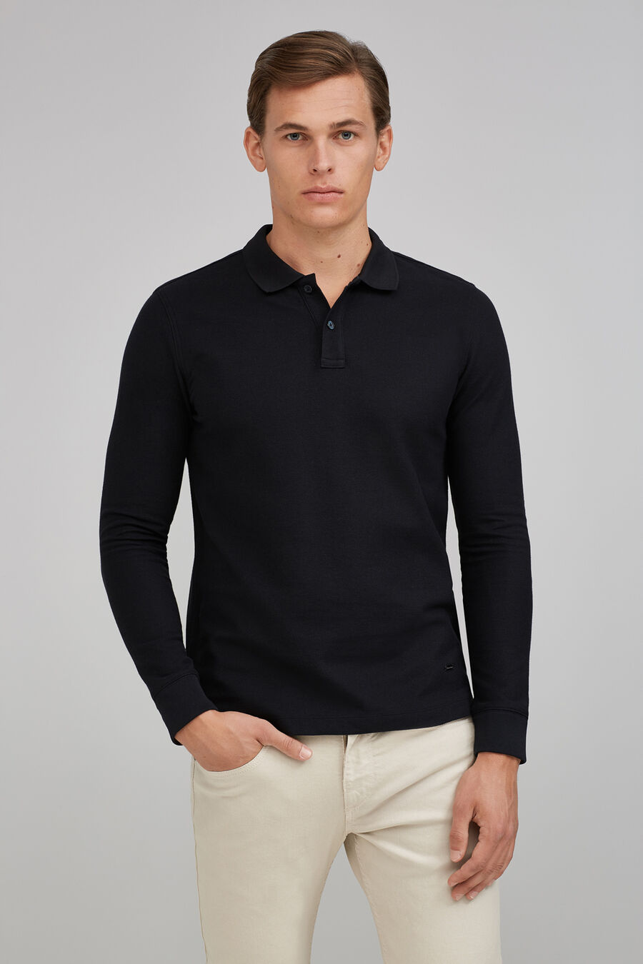 Tailored fit pique polo shirt