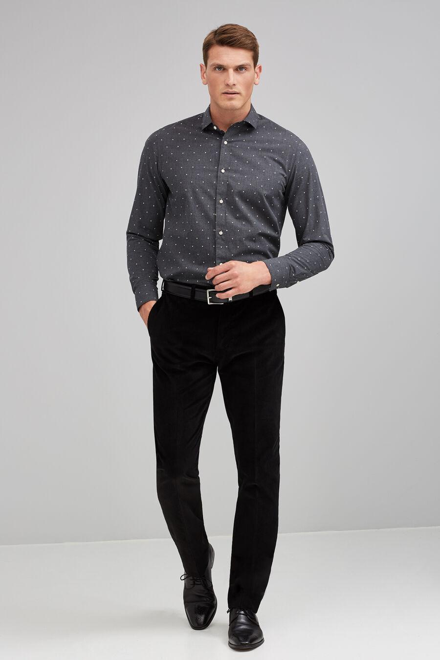 Taupe melange shirt