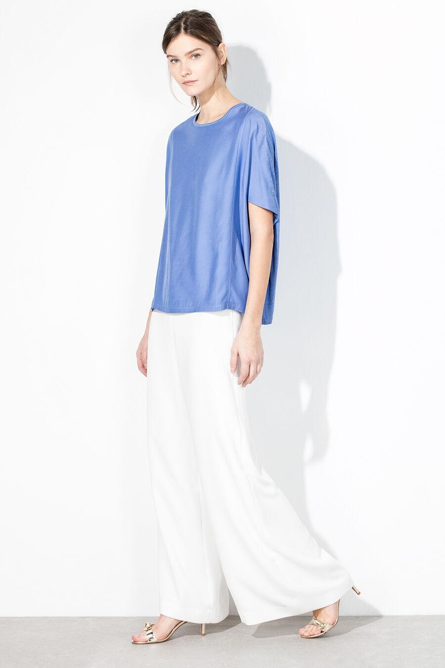 Studded poncho t-shirt