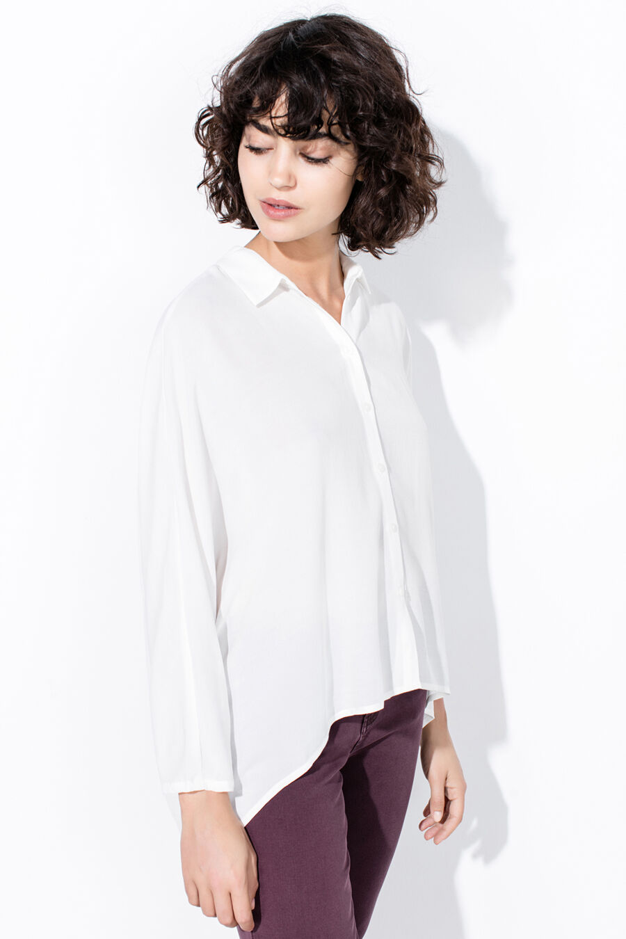 3/4 bat sleeves blouse
