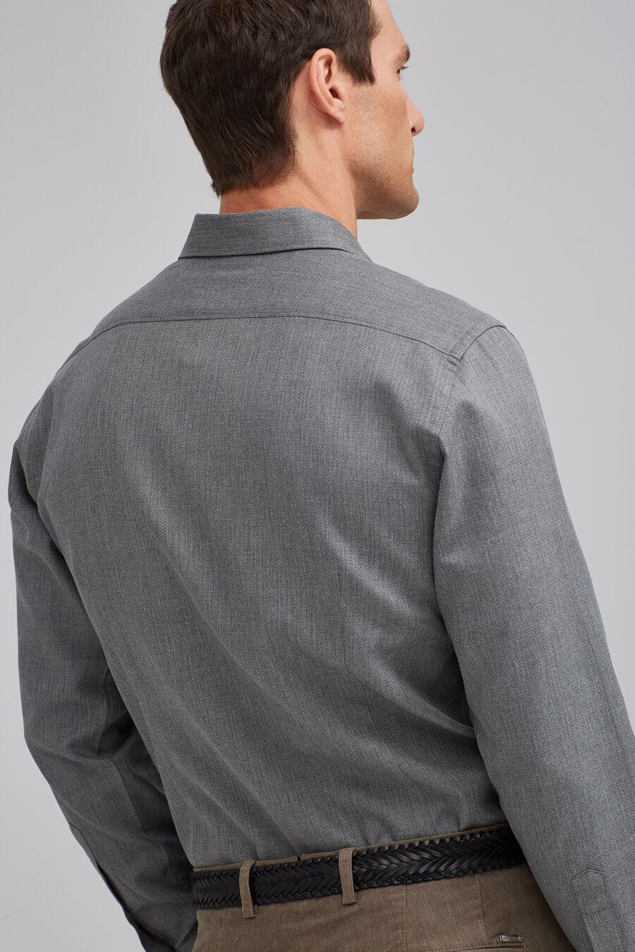Melange jacquard shirt