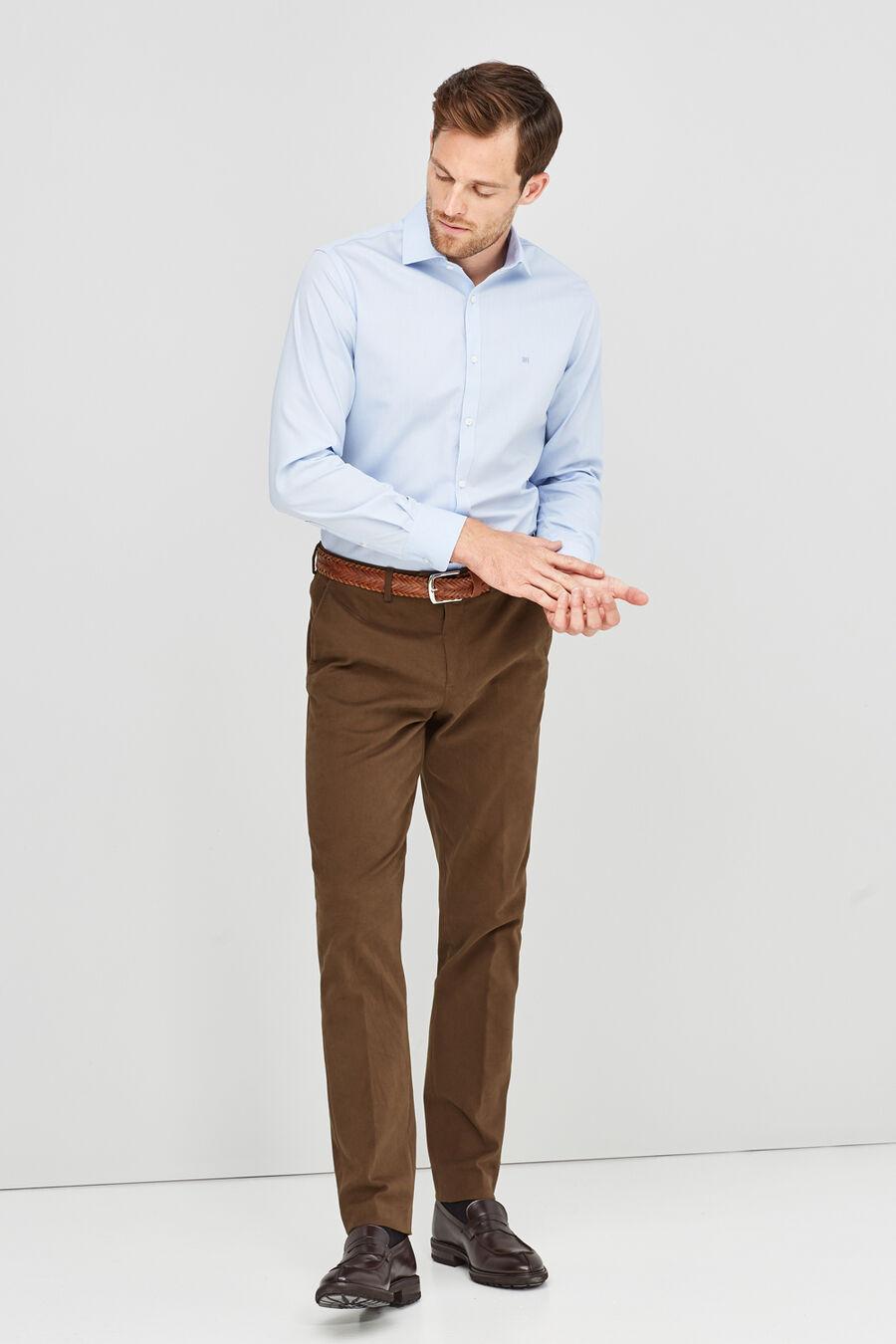 Non-iron jacquard shirt