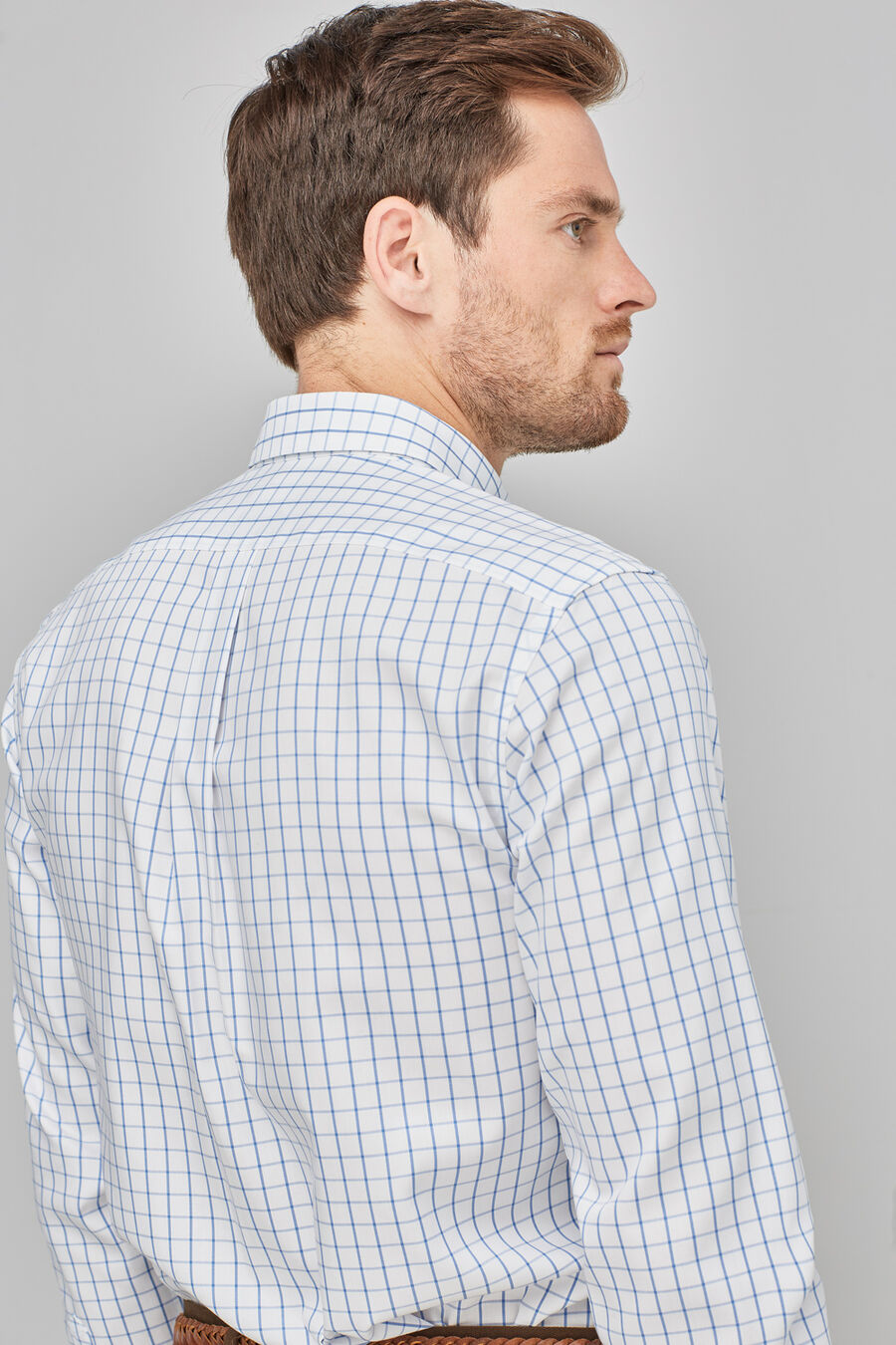 Non-iron check shirt