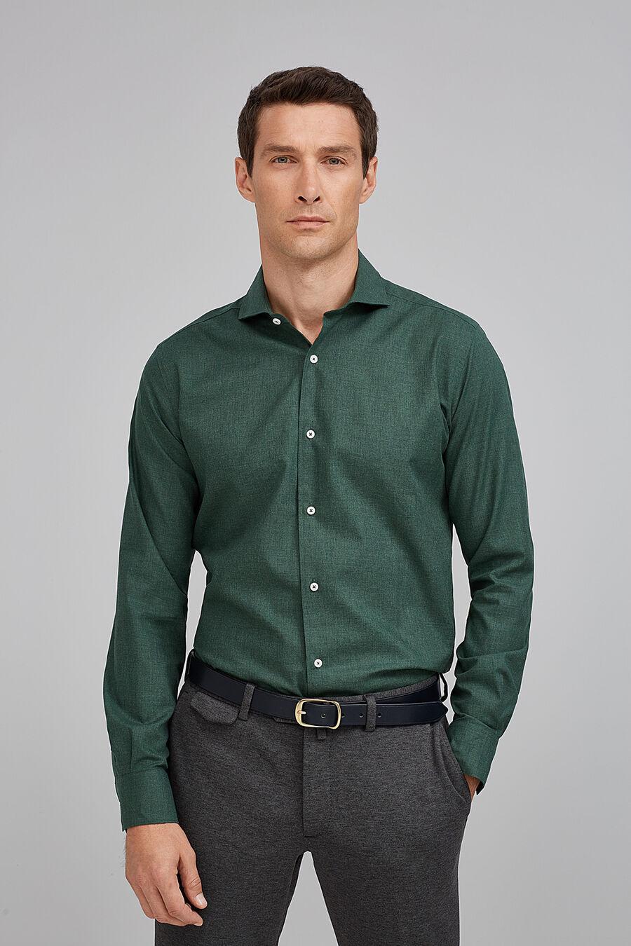 Plain melange shirt