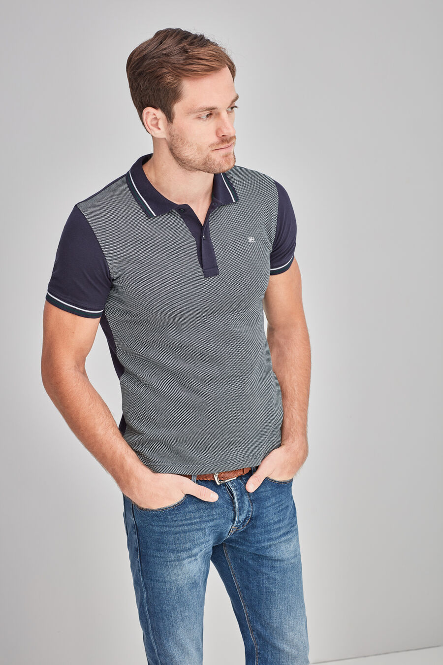 Jacquard fancy polo