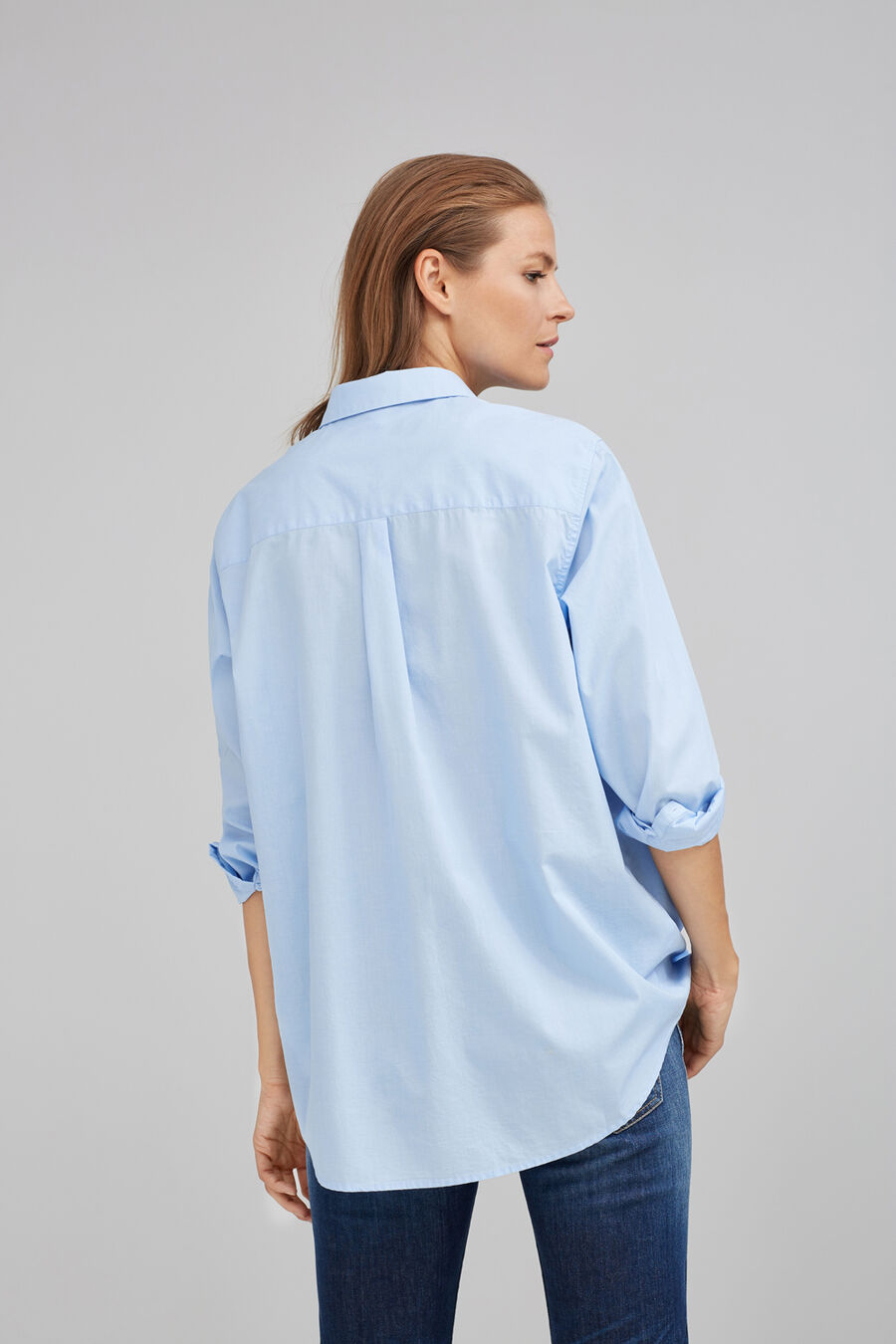 Oversize shirt with pocket