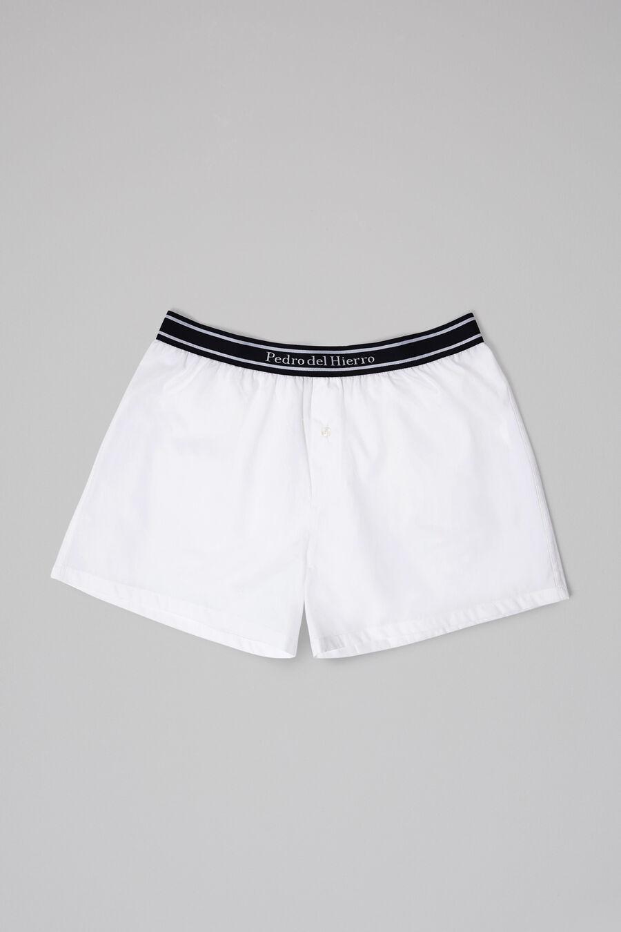 Plain fabric boxers