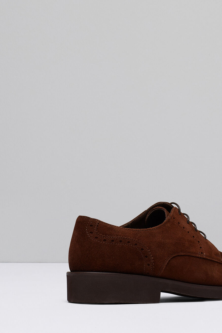 Split leather Blucher shoes with plain uppers