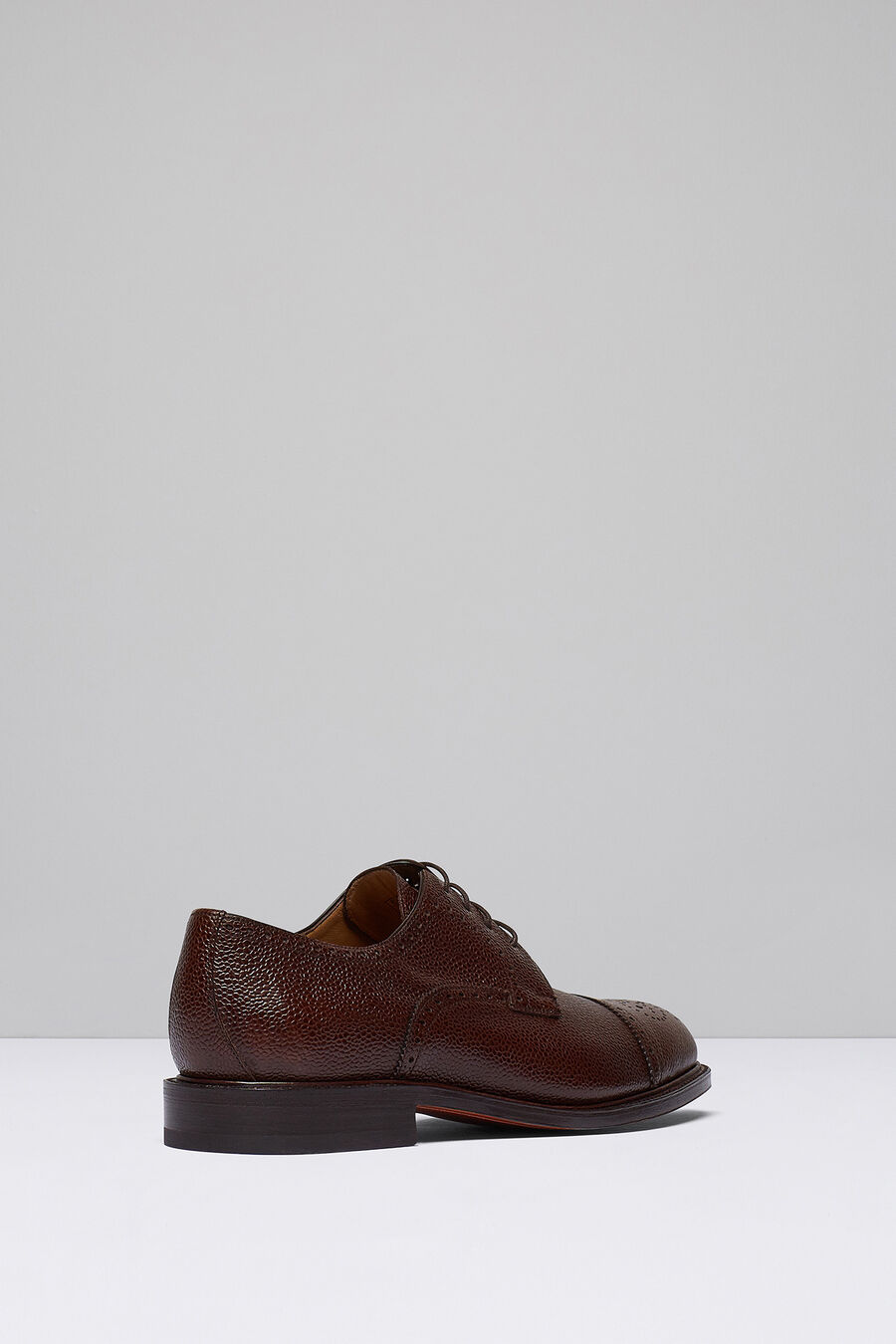 Embossed leather Blucher shoes