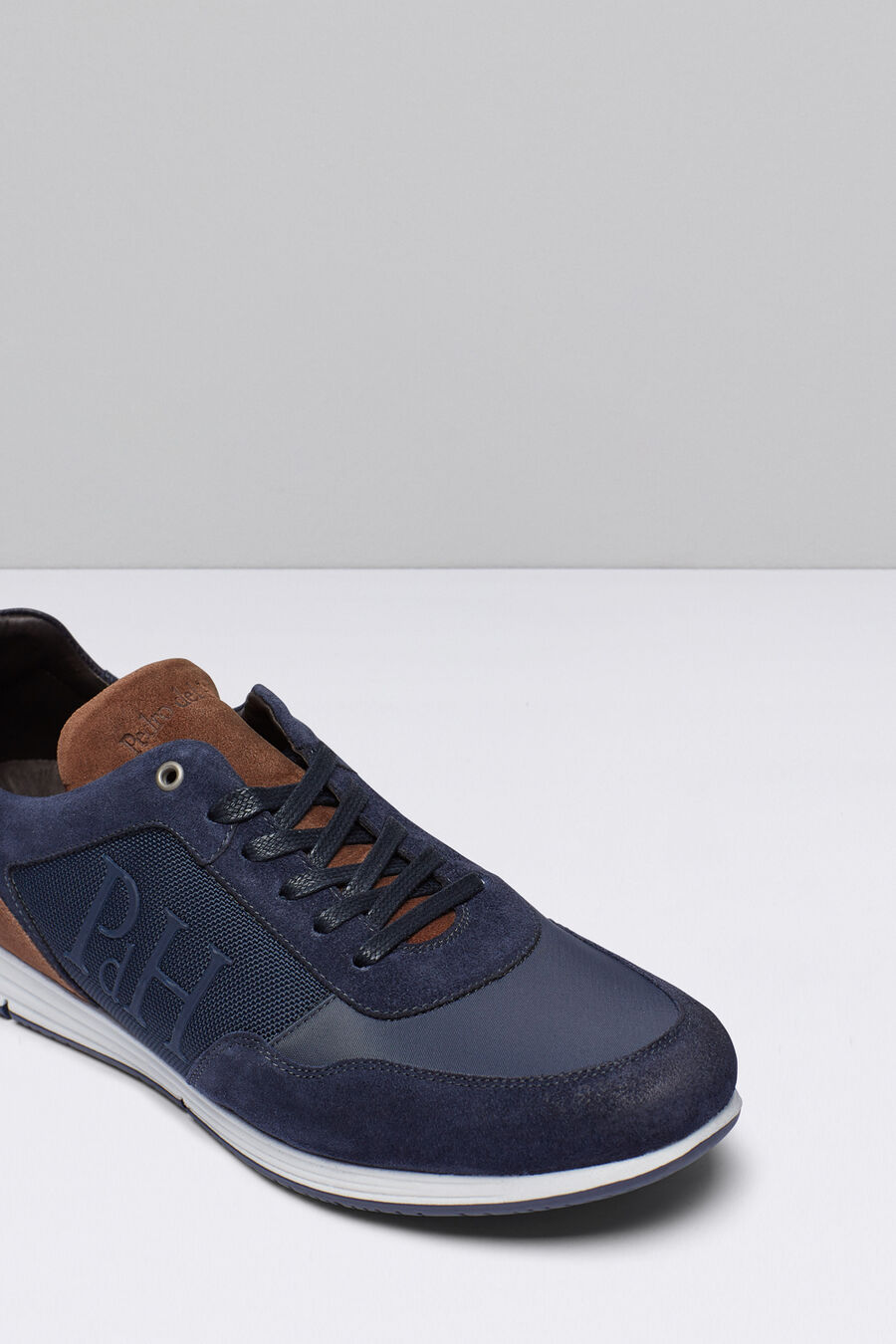 Leather and nylon icon sneakers