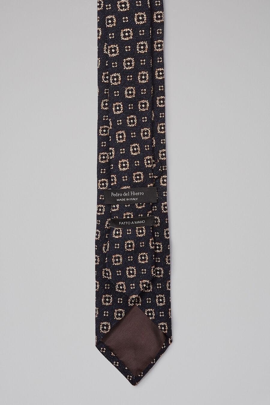 Printed wool tie