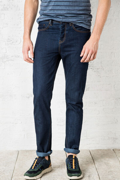 RELAXED-FIT RAW DENIM JEANS