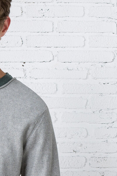 crew neck chunky-knit sweater