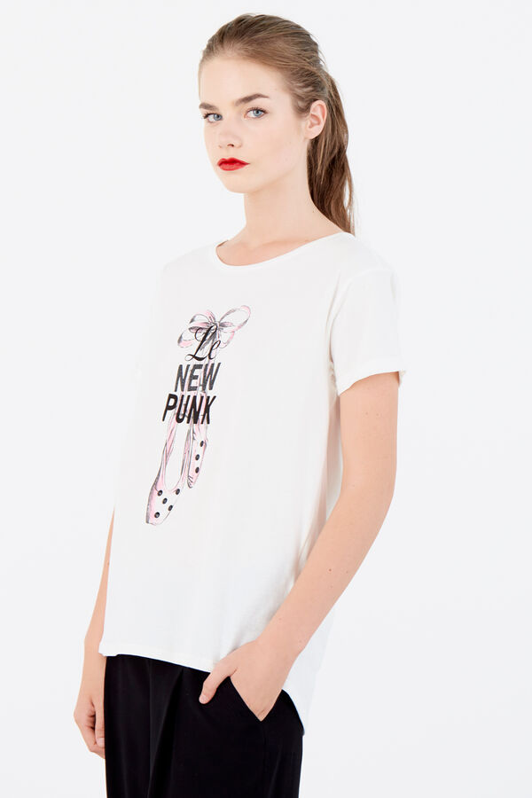 Springfield T-shirt 'Le New Punk' branco