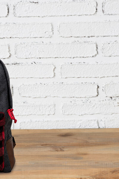 contrasting pocket backpack