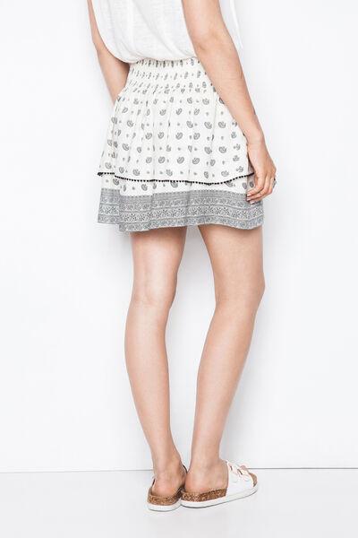 printed ruffles skirt