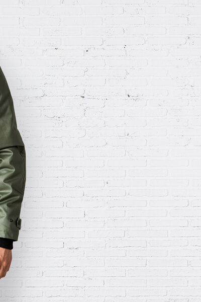 HOODED STRETCH-COTTON JACKET