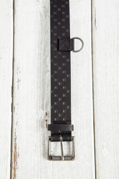 ENGRAVED FAUX LEATHER BELT