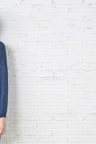 printed ruffles blouse