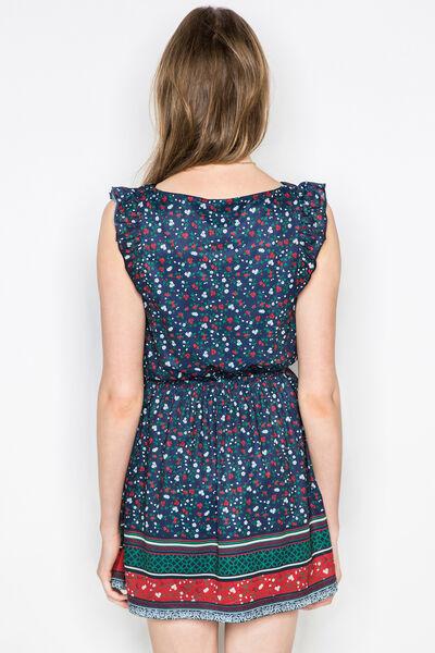 FLORAL LACE-TRIMMED DRESS