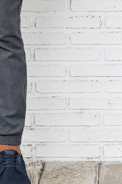 zip pocket woolen trousers