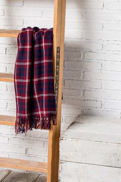 RED CHECKED SCARF