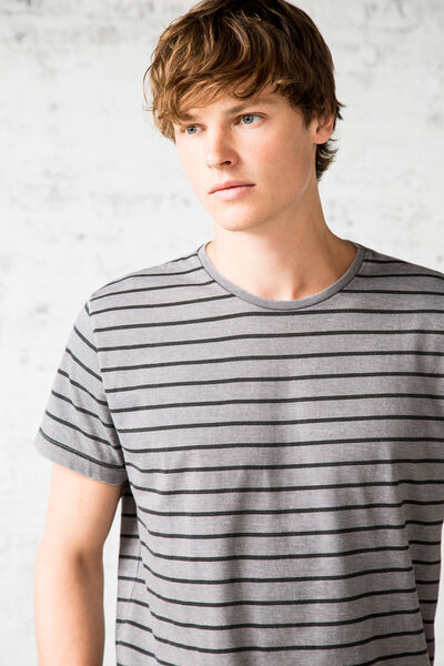 STRIPED BURNOUT T-SHIRT