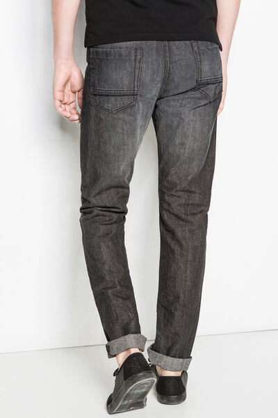 RELAXED-FIT GREY WASH DENIM JEANS