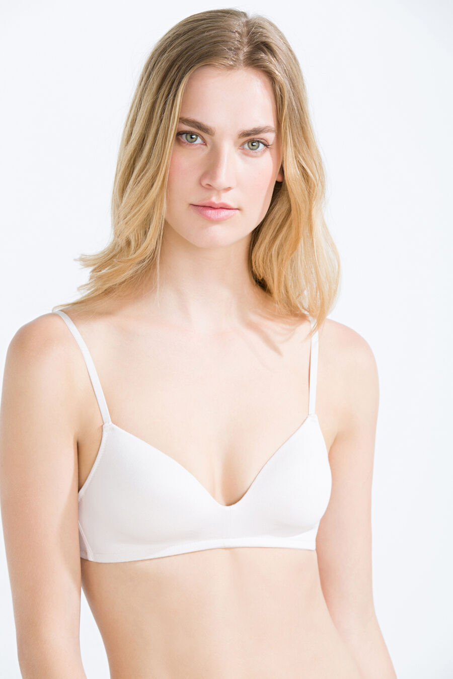 Cotton wireless padded bra