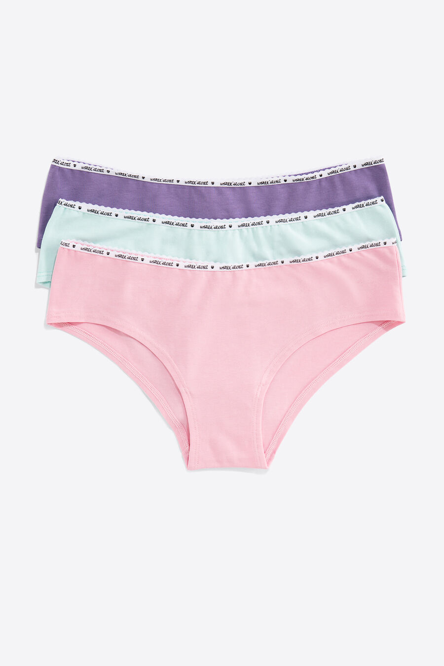 Pack of 7 hipster briefs with logo detail.