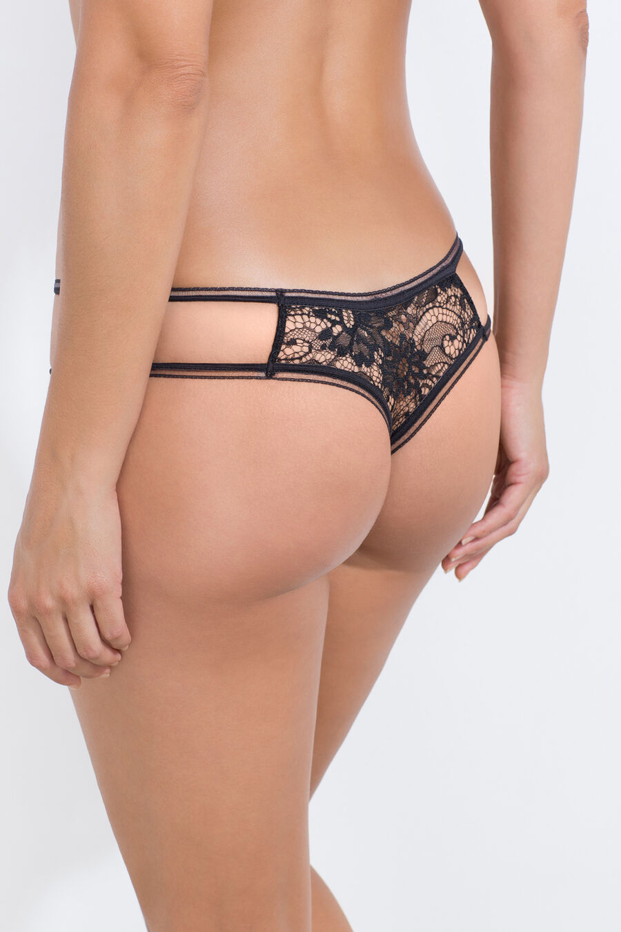 Lace Brazilian hipster brief