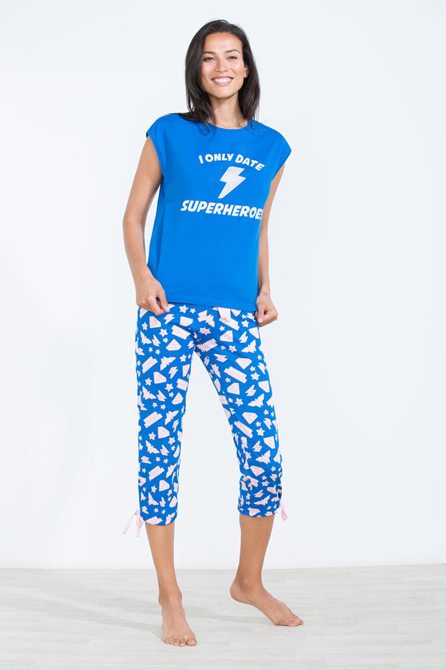 'I only date Superheroes' long pyjama