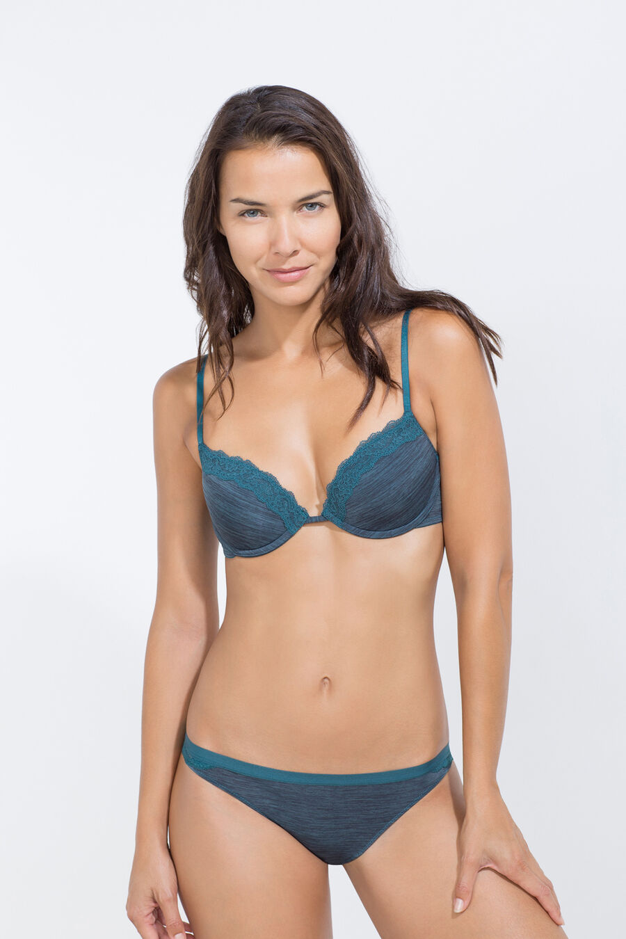 Micro structure padded bra
