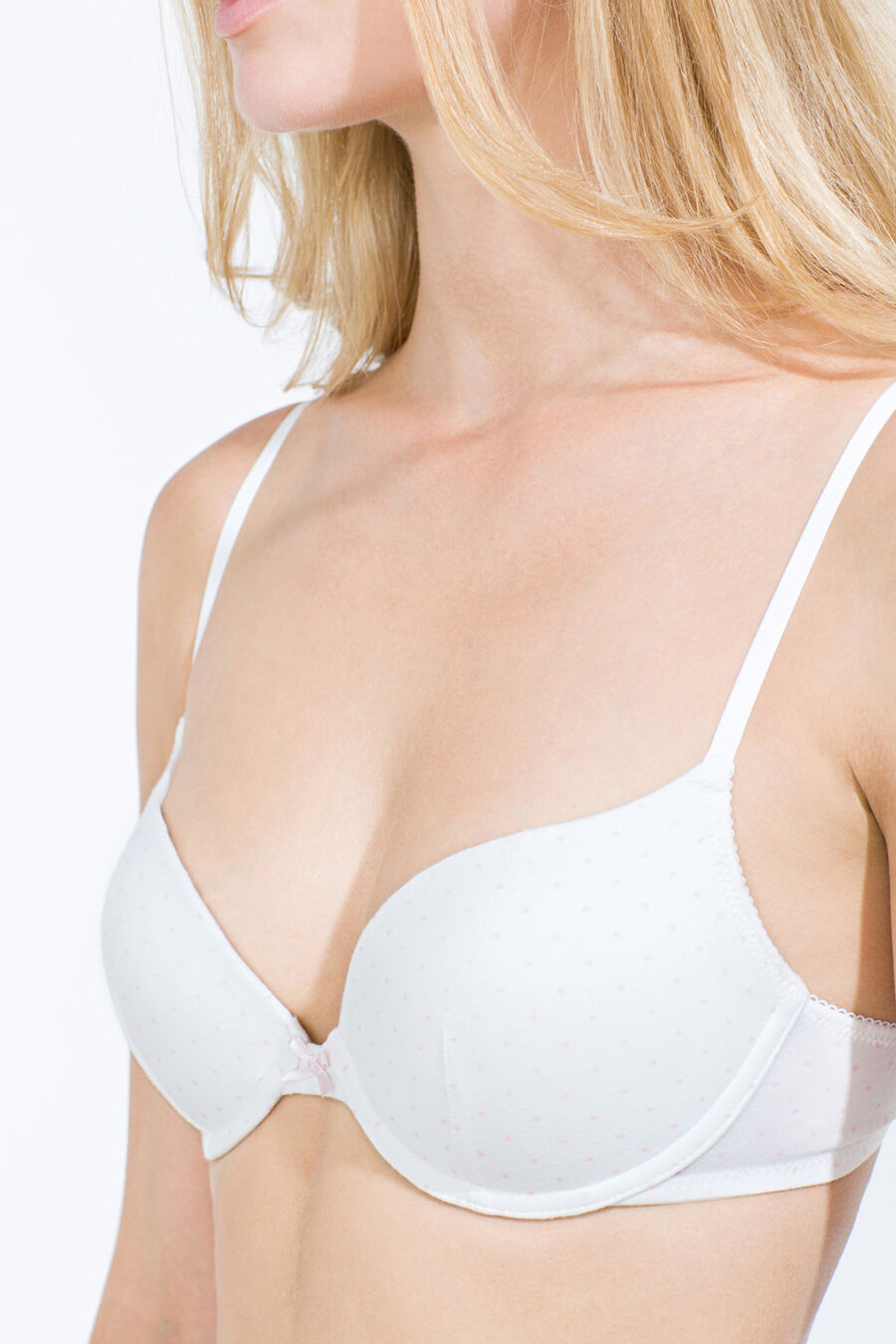 Polka dot push up bra
