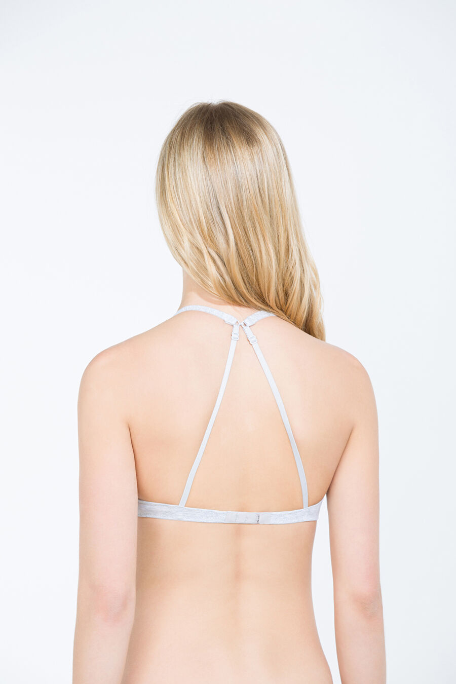 Cotton unpadded wireless bra