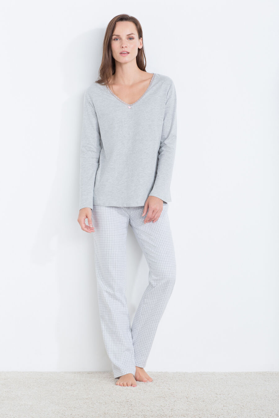 Hounds tooth long pyjama