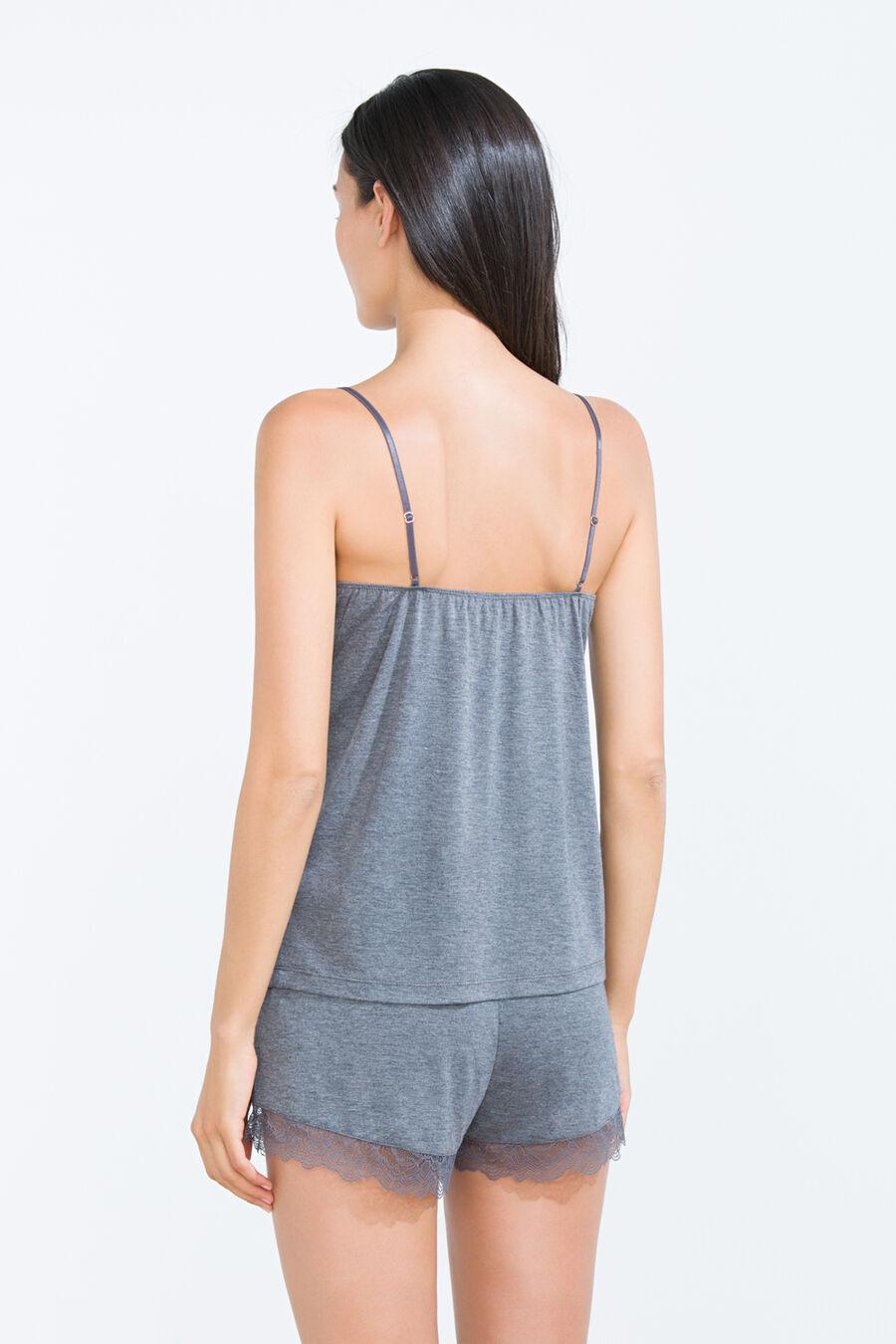 Short pyjama with lace