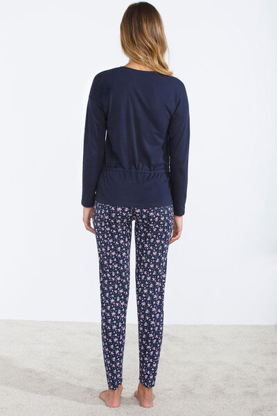 Long thermal pyjama with bow