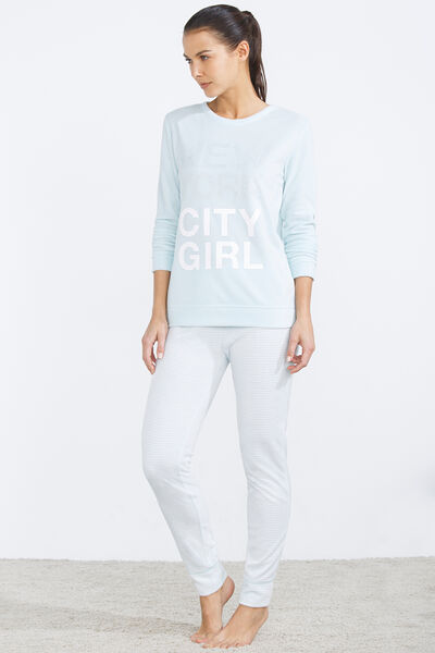 Long thermal 'New York City Girl' pyjama