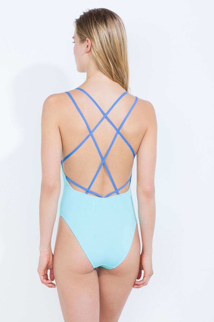 Cris cross strap swimsuit